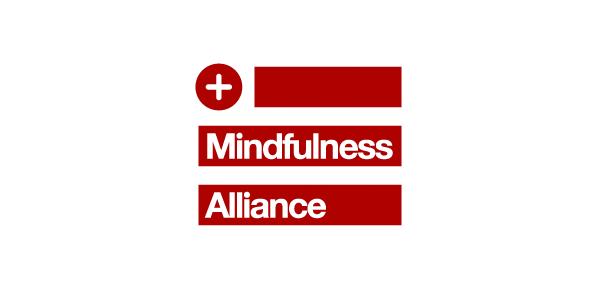 Mindfulness Alliance kuruluşunun kırmızı-beyaz, kare logosu.